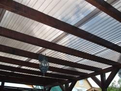 Lichtplatten 1,0 mm PVC-axial gereckt TRAPEZ 70/18 glashell u. bronze