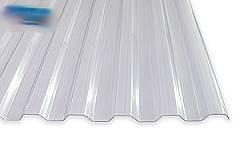 Lichtplatten 1,5 mm Acrylglas TRAPEZ 76/18 glashell